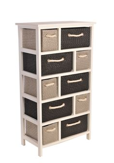 Wooden Chest Drawers White Storage Unit Cabinet Bedroom Bathroom Furniture Tall
