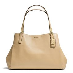 The Madison Cafe Carryall In Leather from Coach. Looooove this for an everyday bag.