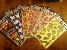 Lot of 6 Vintage 1980s Chrome Sticker Sheets by DecrepitudeAplenty