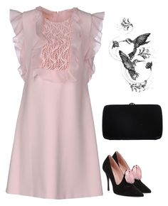 """Untitled #2581"" by carlene-lindsay on Polyvore featuring Giambattista Valli, Roger Vivier, Sergio Rossi and Emily Carter"