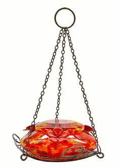 Nature's Way Molten Top-Fill Hummingbird Feeders utilize a beautiful, thick hand-blown glass base and lid. Features Easy Fill and Clean with a 3 in. wide opening and silicone gaskets for Leak Free fit. Decorative Hanging Baskets, Decorative Leaves, Glass Hummingbird Feeders, Humming Bird Feeders, Hummingbird Flowers, Hummingbird Garden, Red And Yellow Make, Small Plastic Bags, Easy Fill