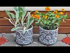 2 идеи цветочных горшков для дачи - YouTube