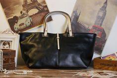 Handmade Large  Leather Tote / Shoulder Bag / by MILANDESIGNING, $89.00