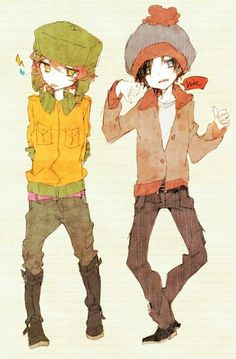 Kyle and stan (Southpark Anime)