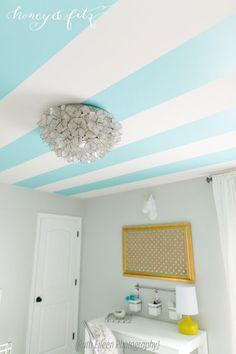 gorgeous, fresh yellow and turquoise teen girl's bedroom. love that capiz light   designed by honeyandfitz