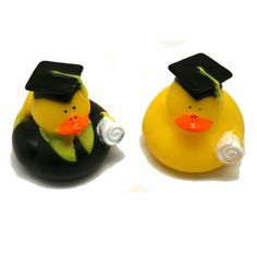 Fun Express Graduation Graduate Rubber Ducky Duck Party Favor Set 1 Dozen