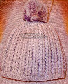 Красивая шапка спицами с рельефным узором от Светланы Красноперовой | Вязание Шапок Спицами и Крючком