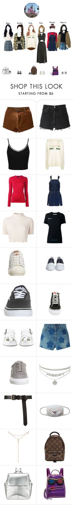 """""""Lotte World with 4U"""" by starz-official on Polyvore featuring Paskal, RE/DONE, Miss Selfridge, Gucci, Proenza Schouler, Jean-Paul Gaultier, Rachel Comey, Off-White, Lands' End and adidas"""