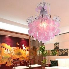 Absolutly love this chandelier, how fun this would be in a bedroom. MY bedroom