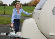 Barefoot Caravans  with designer, Cathy Chamberlain, at Colshaw Hall, Over Peover