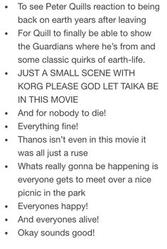 Stuff I want to see happen in Infinity War - 3/3