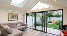 Vaulted ceiling - residential extensions by the art of building. Living Room Extension Ideas, House Extension Design, Extension Designs, Roof Extension, Conservatory Interiors, Modern Conservatory, Conservatory Extension, Conservatory Roof, Bungalow Extensions