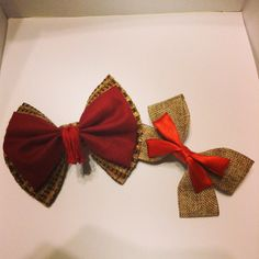 11th Doctor inspired hair bows available soon at www.etsy.com/shops/IntentionalAccidents