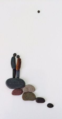 Sharon nowlan original work with pebbles by PebbleArt on Etsy, $150.00