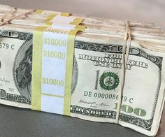 Make your indie film look as authentic as possible by using the movie prop money stacks for any and all scenes dealing with cash. Each fat stack has been professionally dyed, stained, and given a distressed look to enhance its realism.