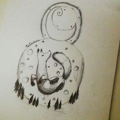 The sly night.  A little doodle that was made in class.