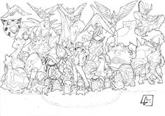 Coloriage à imprimer : Personnages célèbres - Nintendo - Pokemon numéro 627376
