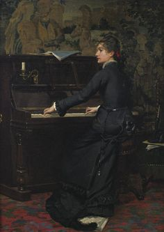 Fanny Newcomb, At the Piano (1877). Middleton Alexander Jameson
