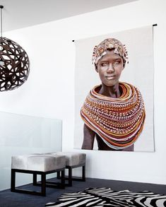 Using Art and Crafts in African Decor African Interior Design, African Design, African Art, Decoration Inspiration, Design Inspiration, Decor Ideas, Design Ideas, Ethno Design, Style Africain