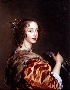 VAN DYCK Sir Antoon van Dyck - Flemish (Antwerpen 1599-1641 Londen) - ca. 1639 Henrietta Maria as St Catherine of Alexandria