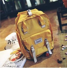 Leather fashion Camel Wearing Skates backpack For Work//Travel//Leisure//school bag
