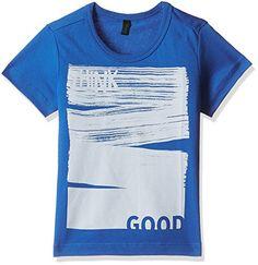 United Colors Of Benetton Baby Boys' T-Shirt (17P3096C131XG_S04_Blue_2Y)