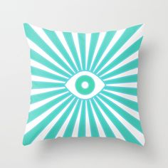 Big Brother Throw Pillow by bitart Scandinavian Pillows, Scandinavian Home, Turquoise Throw Pillows, Retro Color Palette, Boho Bedding, Nordic Home, Shades Of White, Modern Retro, Bohemian Decor