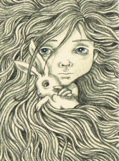 ACEO - Hair and Hare by KootiesMom.deviantart.com on @DeviantArt