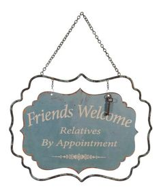 Look at this #zulilyfind! 'Friends Welcome' Wall Art #zulilyfinds