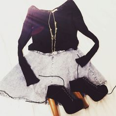 Autumn outfit  #skirt #jumper #shoes #heels #jewellery #outfit #fashion #fashiondiaries #autumn