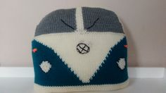 A quirky fun VW Campervan cushion available in teal. Hand knitted and embroidered already stuffed with a cushion pad. Cushions measure approximately 35 x 35cm square. Please visit our shop to see other colour variations.  Each cushion is custom made to order so please allow 3 weeks for delivery. Orders will be sent using myHermes and a tracking number will be sent to the customer once the item has been dispatched.