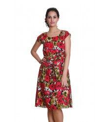 Meiro Women Empire Waist Dress