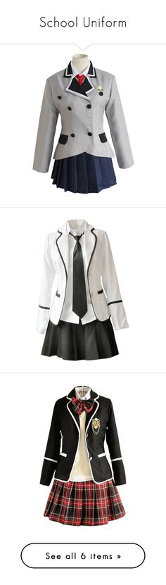 """""""School Uniform"""" by bubble-loves-you ❤ liked on Polyvore featuring cosplay, dresses, outfits, tops, uniforms, other and full outfits"""