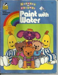 1990s Bananas in Pajamas coloring book