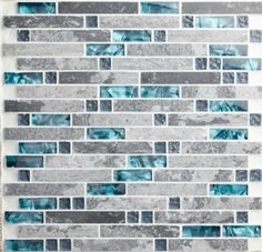 Blue shell tile glass mosaic kitchen backsplash tiles SGMT026 grey stone bathroom tiles glass stone mosaic tile free shipping [SGMT026] - $19.99 : MyBuildingShop.com