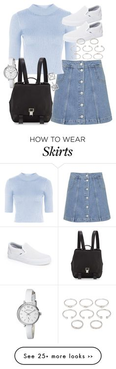 """""""Untitled #18852"""" by florencia95 on Polyvore featuring Topshop, Proenza Schouler, Vans, Forever 21, Rebecca Minkoff and Marc by Marc Jacobs"""