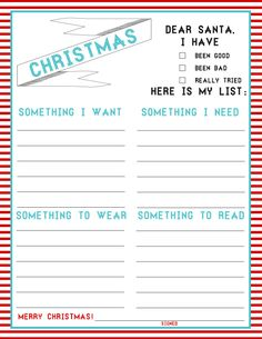 Kid Christmas Lists