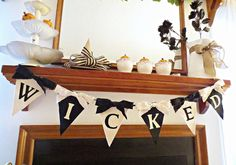 Hey, I found this really awesome Etsy listing at https://www.etsy.com/listing/470776879/halloween-decor-halloween-banner-vintage