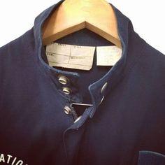 1989年4月製【FRANCE】MARINE NATIONAL 『BLOUSON』STAND UP COLLOR JACKET SIZE 92 フランス軍 NAVY ブルゾン スタンドアップカラージャケット Collor, Military, Navy, Fashion, Hale Navy, Moda, Fashion Styles, Old Navy, Fashion Illustrations