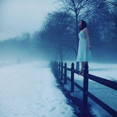 She stood atop the fence, taking a few deep breaths. She sniffed the air in front of her, cherishing every whiff she got. Oh, how she desired to visit the other side.
