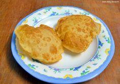 Potato poori recipe: Golden all puffed poori with subtle potato flavor and taste,recipe @ http://cookclickndevour.com/2014/05/potato-poori-recipe-how-to-make-potato-poori.html