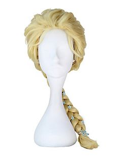 Do you think I should buy it? Elsa Cosplay, Cosplay Wigs, Frozen Snow Queen, Princess Fairytale, Masquerade Dresses, Halloween News, Halloween Costumes, Anime Wigs, Silver Blonde