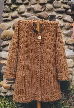 Oat Couture--Annie Dempsey--October Coat (Crochet) I like these patterns. I REALLY like the tongue in cheek name of the company!Crochet Cardigan, Jacket and Coat Patterns - Angelikas Yarn Store. I bought my pattern at my local yarn store in Pleasanton and Crochet Cardigan Pattern, Crochet Jacket, Crochet Shawl, Knit Crochet, Crochet Patterns, Knitted Coat Pattern, Crochet Sweaters, Jacket Pattern, Crochet Granny