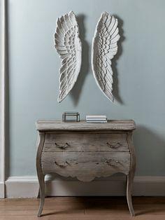 NEW Slim Angel Wings - Antique White