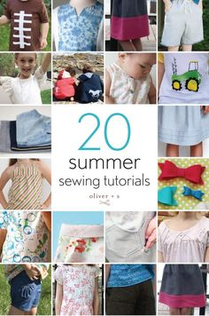 Here comes the sun! Be inspired by these twenty sewing projects, perfect for sunny days.