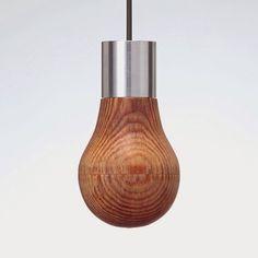 Aydınlatma ve Dekor Dünyasından Gelişmeler: Ryosuke Fukusada'dan Ahşap Ampul Aydınlatma #aydinlatma #lighting #design #tasarim #dekor #decor