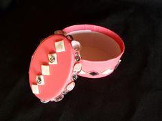 Süße kleine Schachtel in pink aus Pappe mit Glanzpapier beklebt & Verzierung.  Verwendbar für Schmuck, kleine Sammelleidenschaften, Geheimnisse, ...
