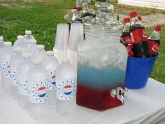 Red, white and blue layered drinks! favorite-recipes