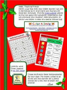 FREE roll-and-write  and candy cane count-on ... two of the many activities in the TPT Holiday Ebook!