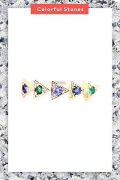 Sapphires and emeralds usually take a backseat to diamonds in engagement rings. In this particular style, however, these stones come together with tanzanite to take center stage. The result: an unexpected combination that may or may not inspire the actual wedding's color scheme. #refinery29 http://www.refinery29.com/new-engagement-ring-trends#slide-3